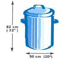 Garbage Can Dimensions